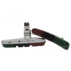 absolut, Pastiglie e ricambi pattino, ricambi per Cartridge/V-brake, con 3 mescole colorate intercambiabili (silenzionsa, per ba