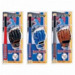 SPORT-ONE SET BASEBALL STRIKE 3 mazza in legno, guanto e palla, 3 colorazioni
