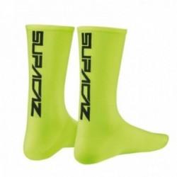 SUPACAZ Calze Modello Mezza Altezza Neon Giallo/Nero (L/XL)