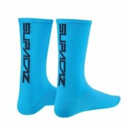 SUPACAZ Calze Modello Mezza Altezza Neon Blu/Nero (S/M)