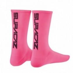 SUPACAZ Calze Modello Mezza Altezza Neon Rosa/Nero (S/M)