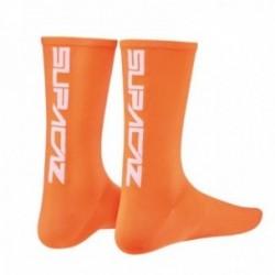 SUPACAZ Calze Modello Mezza Altezza Arancio/Bianco (L/XL)