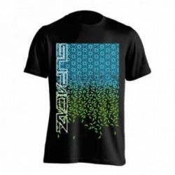 T-Shirt Supacaz Starfade taglia L nero/verde fluo/blu fluo