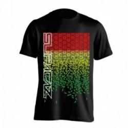 T-Shirt Supacaz Starfade taglia L nero/rosso/giallo/verde