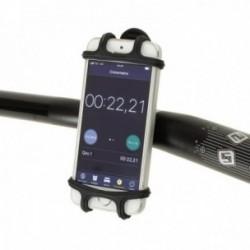 """Supporto per Smartphone MV-TEK in silicone nero per schermi da 4""""/5""""/6"""""""