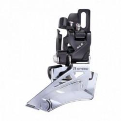Deragliatore anteriore MTB Microshift 2x11 velocità attacco diretto alluminio
