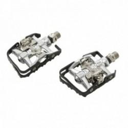 Pedali MV-TEK DUAL FUNCTION 95x65mm perno su cuscinetti nero/silver