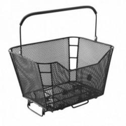Cestino posteriore MV-TEK attacco al portapacco in metallo 40x38x26cm nero