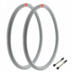 Kit mousse protezione cerchi MTB Soulciccia 29x40 2 pezzi + 2 valvole tubeless con base modificata