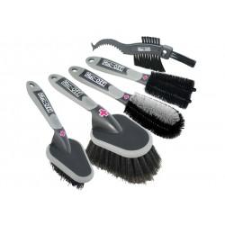 Muc-Off, Curadella bici, Set di spazzole per la pulizia della bici, contiene 5 spazzole in nylon di alta qualità
