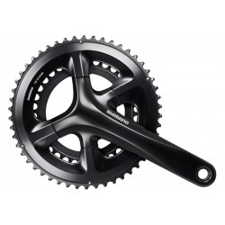 FRONT CHAINWHEEL, FC-RS510, FOR REAR 11-SPEED, 2-PCS FC, 172.5MM, 50-34T WITHOUTCG, W/O BB PARTS, BLACK, IND.PACK