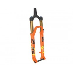Forcella da 29 Boost Fox Racing 34 K Float Factory StepCast 120 Remote 2Pos-Adj FIT4 conica Kabolt arancione/nero/giallo