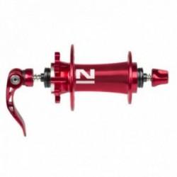 Novatec, Mozzi, MTB Disc Superlight anteriore, 3in1, 32-fori, colore rosso, con sgancio rapido, larghezza 100 mm, perno da M9x10