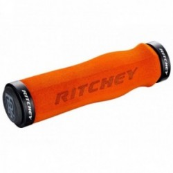 Manopole Lock-On Ritchey WCS LOCKING neoprene 130mm arancione con tappini