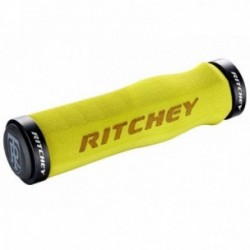 Manopole Lock-On Ritchey WCS LOCKING neoprene 130mm giallo con tappini