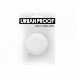 Campanello URBAN PROOF acciaio Ø 60mm montaggio al manubrio 22.2mm Tring Bell Bianco