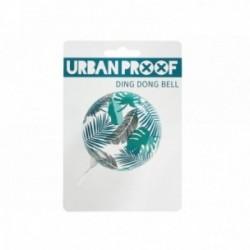 Campanello URBAN PROOF acciaio Ø 65mm montaggio al manubrio 22.2mm Dingdong Bell Bianco con foglie