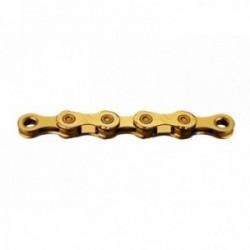 KMC, Catena, X12 Ti-N Gold, per 12-vel., 126-link, NON direzionabile, colore: nero / oro, sostituisce : BX12T0126