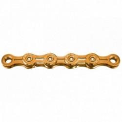 KMC, Catena, X10EL Ti-N Gold, per 10-vel., 114-link,  maglie interne ed esterne a peso ridotto,  NON direzionabile, colore: oro,