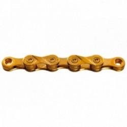 "KMC, Catena, X9 Ti-N Gold, per 9-vel., 114-link, Ti-N Titanium Nitrid beschichtet, misure: 1/2""x11/128"", conf. originale, sostit"