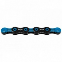 KMC, Catena, X-10 SL DLC Super Light, 116 link, nero-blu, New Triple X Durability, per 10-vel., con hollow pin, in acciaio super