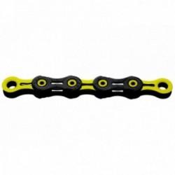 Catena KMC X11 SL DLC Super Light 118 maglie 11 velocità nero/giallo