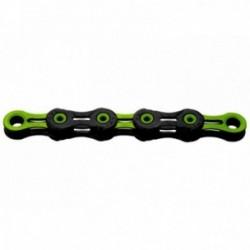 Catena KMC X10 SL DLC Super Light 116 maglie 10 velocitò nero/verde