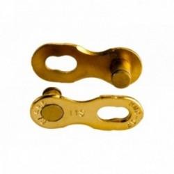 Falsa Maglia KMC 11R Ti-N 11 velocità Confezione da 2 pezzi Oro