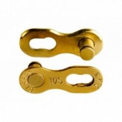 """Falsa Maglia KMC 10R Ti-N 10velocità 1/2""""x11/128"""" Confezione da 2 pezzi Oro"""