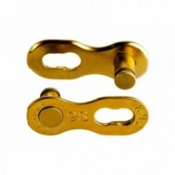 """Falsa Maglia KMC 9R Ti-N 9 velocità 1/2""""x11/128"""" Confezione con 2 pezzi Oro"""