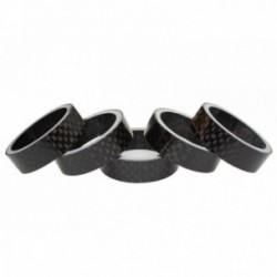 "Distanzali CLCBike CARBON SPACER 1 1/8"" 10mm 3k Finish lucido Confezione da 5 pezzi"