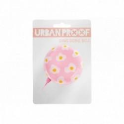 Campanello Urban Proof acciaio 6.5cm rosa con stampa fried eggs