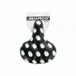 Sella Urban Proof Comfort in pelle PU idrorepellente taglia unica nero/pois bianchi