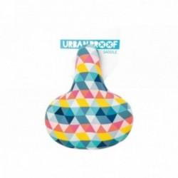 URBAN PROOF, Sella, Comfort, in pelle PU, idrorepellente, sospensione con protezione bimbi, one-size (27x21x12cm), diversi color
