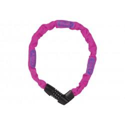 Abus, Lucchetti, Lucchetto a catena, Tresor 1385, Security Level 6, colore: rosa fluo, lunghezza: 75cm, catena a sezione quadra