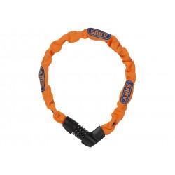 Abus, Lucchetti, Lucchetto a catena, Tresor 1385, Security Level 6, colore: arancio fluo, lunghezza: 75cm, catena a sezione quad