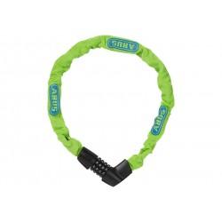 Abus, Lucchetti, Lucchetto a catena, Tresor 1385, Security Level 6, colore: verde fluo, lunghezza: 75cm, catena a sezione quadra