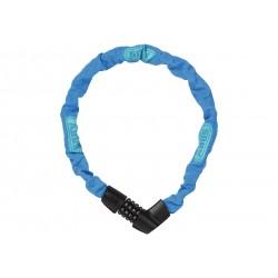 Abus, Lucchetti, Lucchetto a catena, Tresor 1385, Security Level 6, colore: blu fluo, lunghezza: 75cm, catena a sezione quadra d