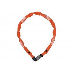 Abus, Lucchetti, Lucchetto a catena, 1200 Web, Security Level 3, colore: arancio, lunghezza: 60cm, catena a sezione tonda da 4 m