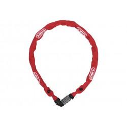 Abus, Lucchetti, Lucchetto a catena, 1200 Web, Security Level 3, colore: rot, lunghezza: 60cm, catena a sezione tonda da 4 mm ri