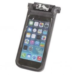 M-WAVE, Trasporto, Porta-Smartphone, attacco al manubrio,  con aggancio Quick Release per Ø 22-31,8 mm, ruotabile di 90°, in mat