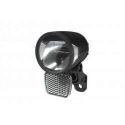 Herrmans, Impianto illuminazione, H-Black MR8, LED faretto anteriore, colore nero, Dinamo 6V WS, ca. 180 Lume, con catadiottro a