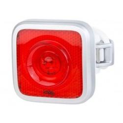 Luce posteriore Knog Blinder MOB red LED argento/bianco