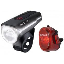 Set luci Sigma Sport AURA 60 USB / Nugget II RL