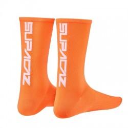 SUPACAZ CALZE SUPACAZ Neon Arancio logo NeroL/XL