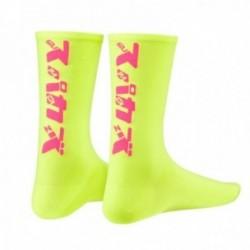 SUPACAZ Calze KATAKANA Neon Giallo/Neon Rosa (L/XL)