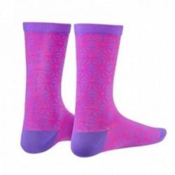 SUPACAZ Calze ASANOHA Neon Viola/Neon Rosa (L/XL)
