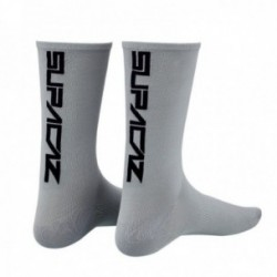Calzini SUPACAZ STRAIGHT UP SL grigio/nero taglia L/XL