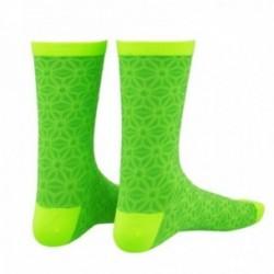 Calzini SUPACAZ ASANOHA verde fluo/giallo taglia L/XL