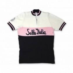Maglia SELLA ITALIA manica corta taglia XL nero/bianco/rosa